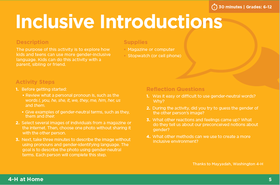 Inclusive Introductions