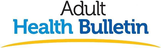 Adult Health Bulletin header